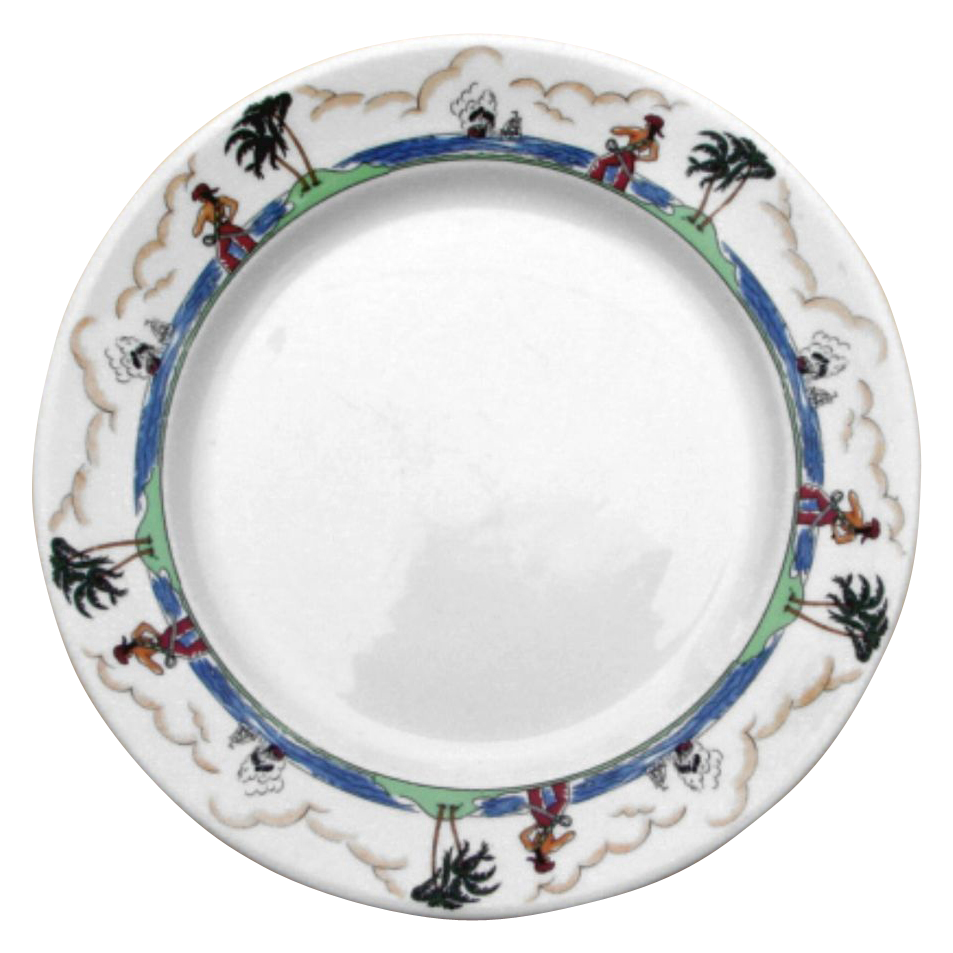 Illinois Central Railroad \ Pirate\  China Dinner Plate  sc 1 st  Pinterest & Illinois Central Railroad \