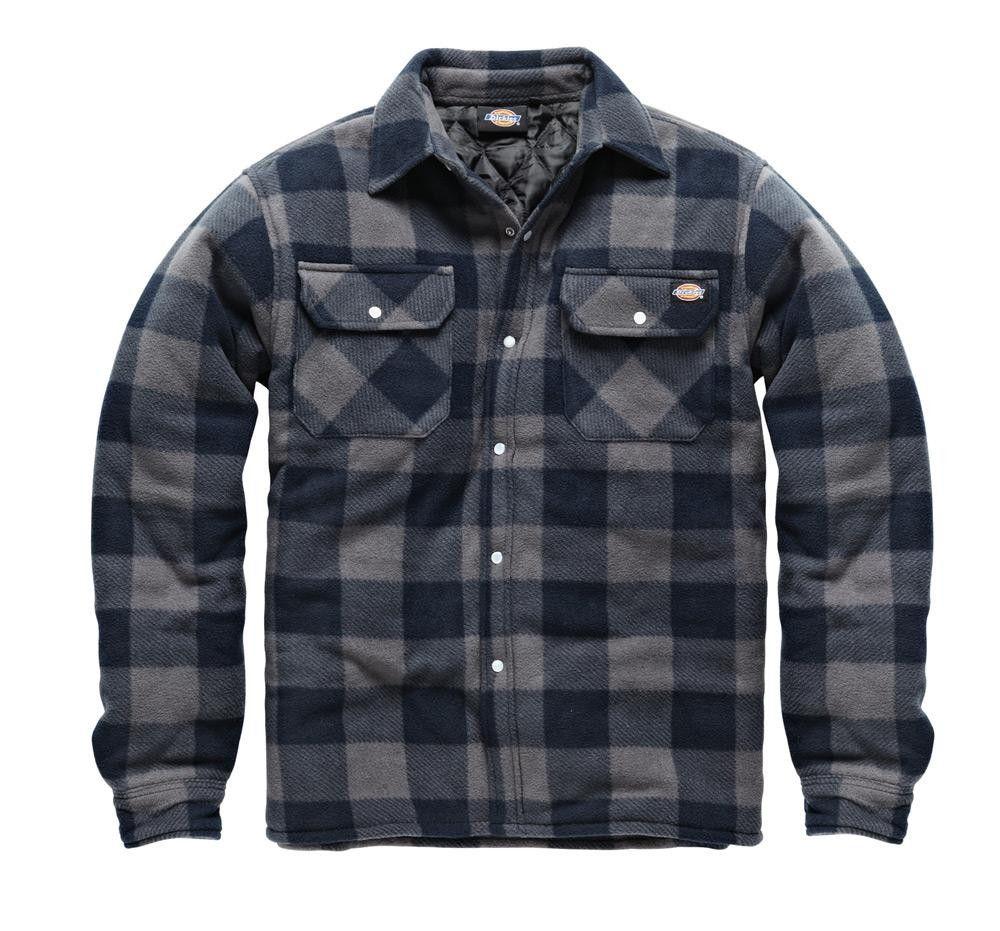 Kentex Online New Mens Padded Hooded Shirt Polar Fleece Fur Lined Work Shirts Winter Warm Hoody M L XL XXL