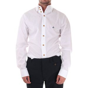 This men's shirt has a high collar the closest I could find to the ...