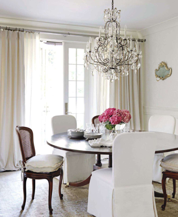 I Love This Casual, Romantic, Semi-formal Dining Room