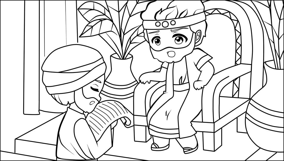 Learn Bible Stories With King Josiah Bible Coloring Page Sunday