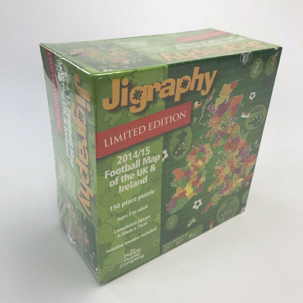 Map Of Uk Jigsaw.Details About Jigraphy Limited Edition Football Map 2014 15 Of Uk