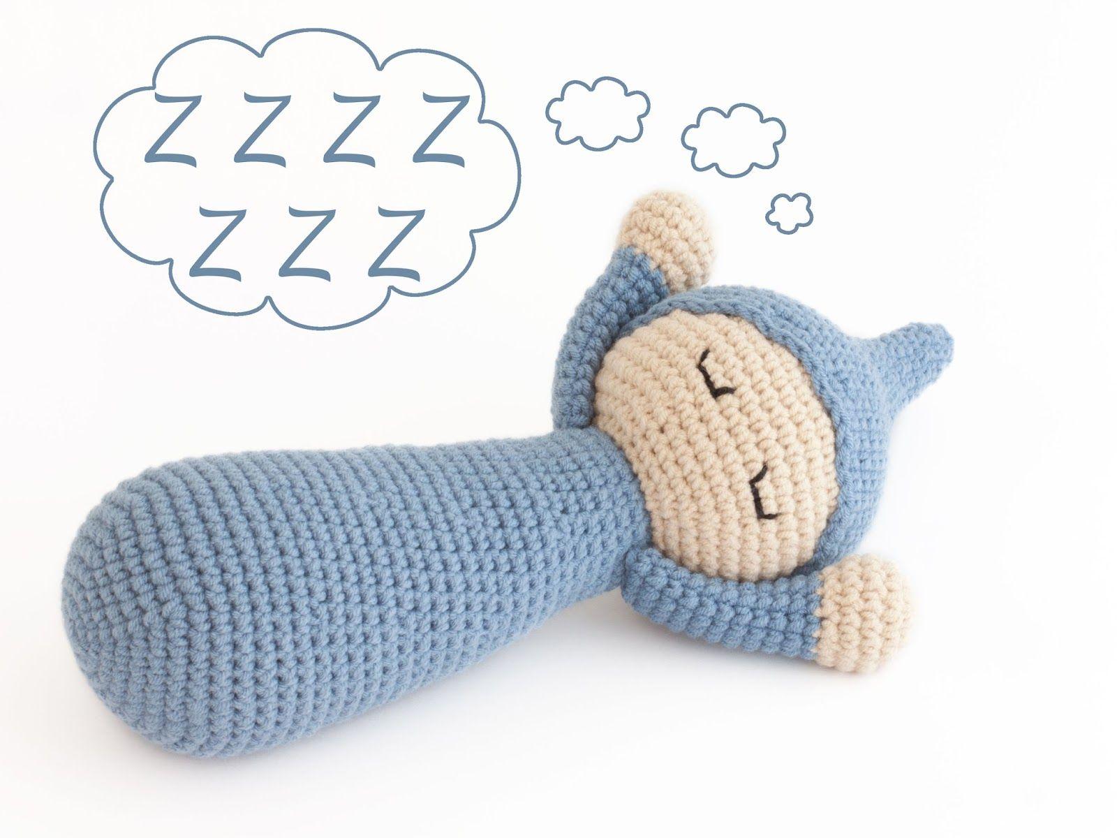Amigurumi dormilón (enlace a patrón gratis) | Muñecos amigurumi ...