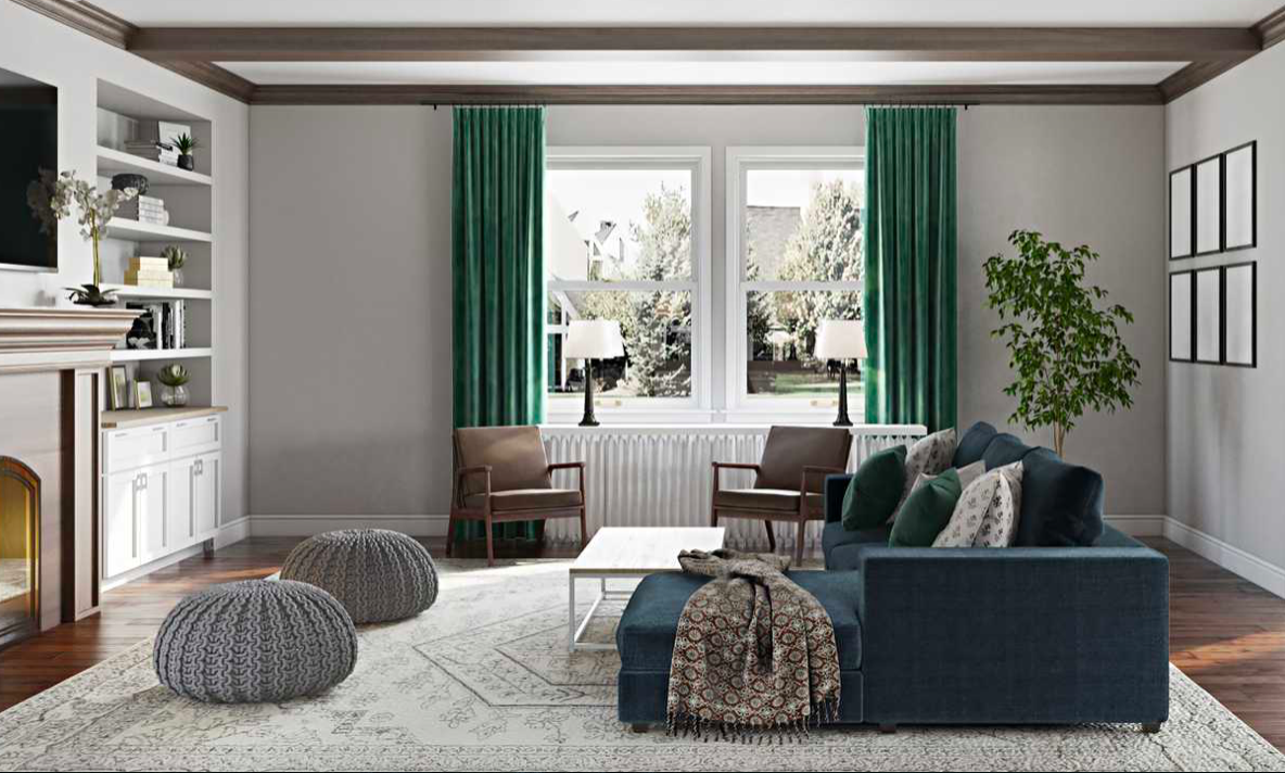 Contemporary Living Room In 2020 Preppy Living