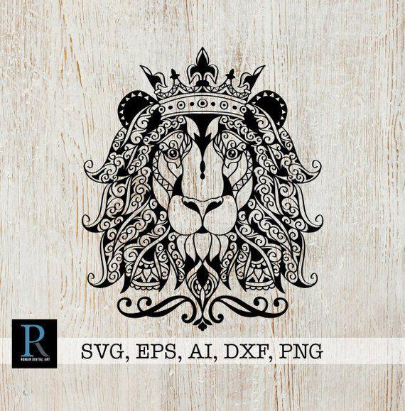 Download Zentangle Lion SVG, Mandala Lion SVG, Lion for cricut ...