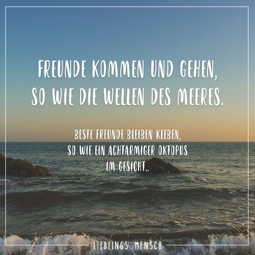 freunde kommen und gehen sprüche Freunde kommen und gehen, so wie die Wellen des Meeres. Beste  freunde kommen und gehen sprüche