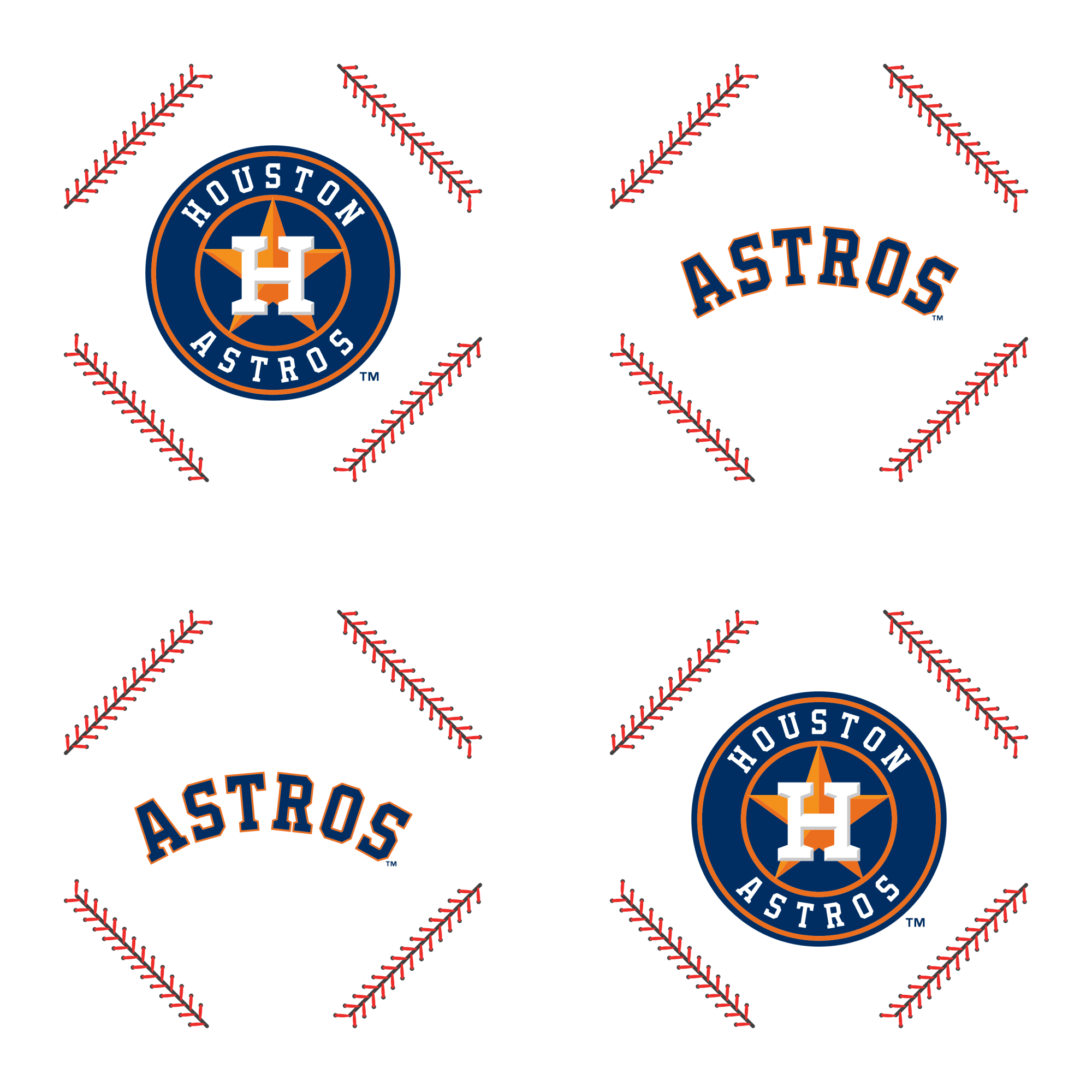 Houston Astros Stitch Pattern Officially Licensed