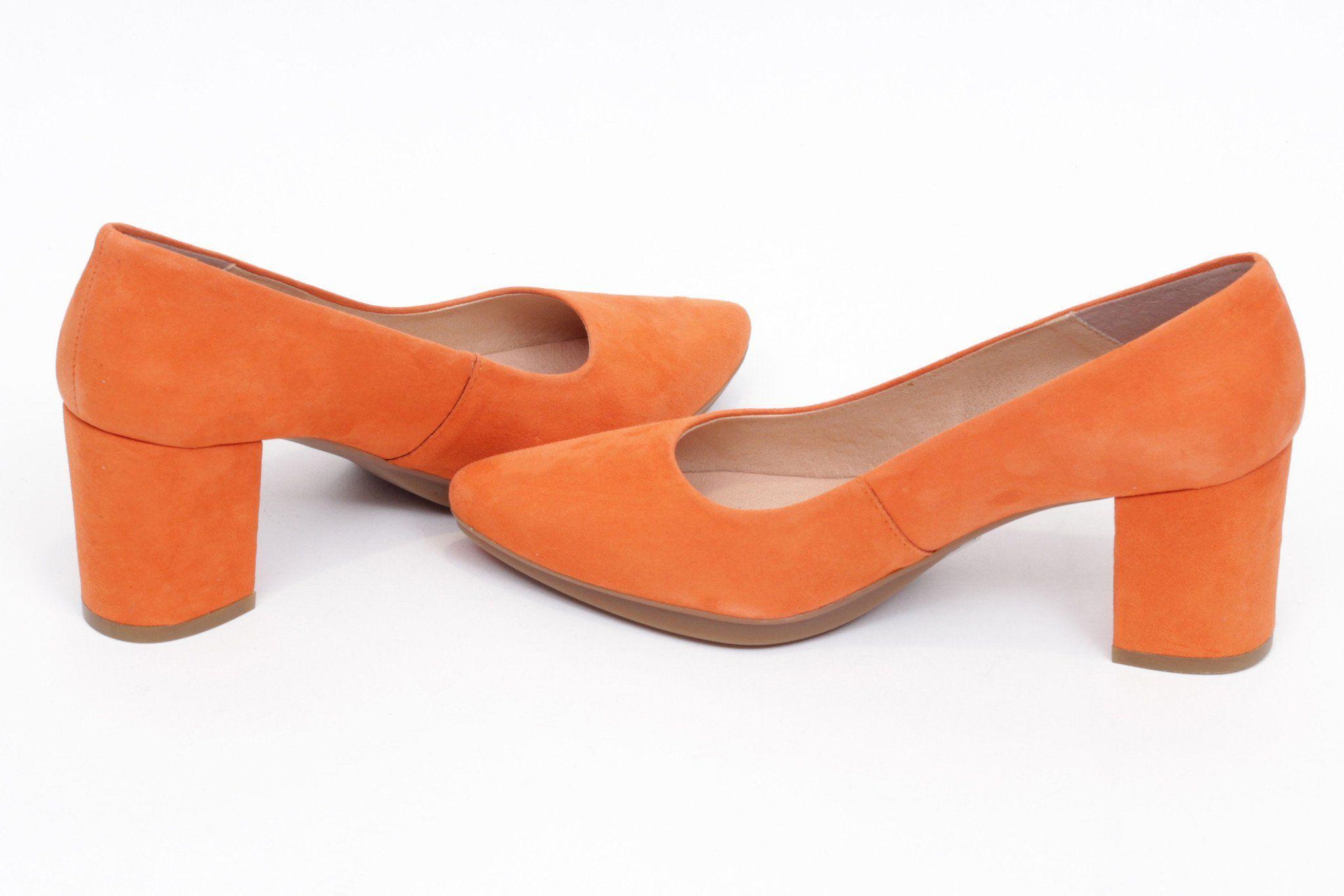 97bc60fd miMaO Urban S naranja - Zapato mujer de tacon salon vestir rojo cómodo -  women high