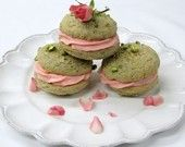 Pistachio Rose Water Whoopie Pies--I'll  make some Nutella or chocolate ganache or even mango ganache instead of the rose