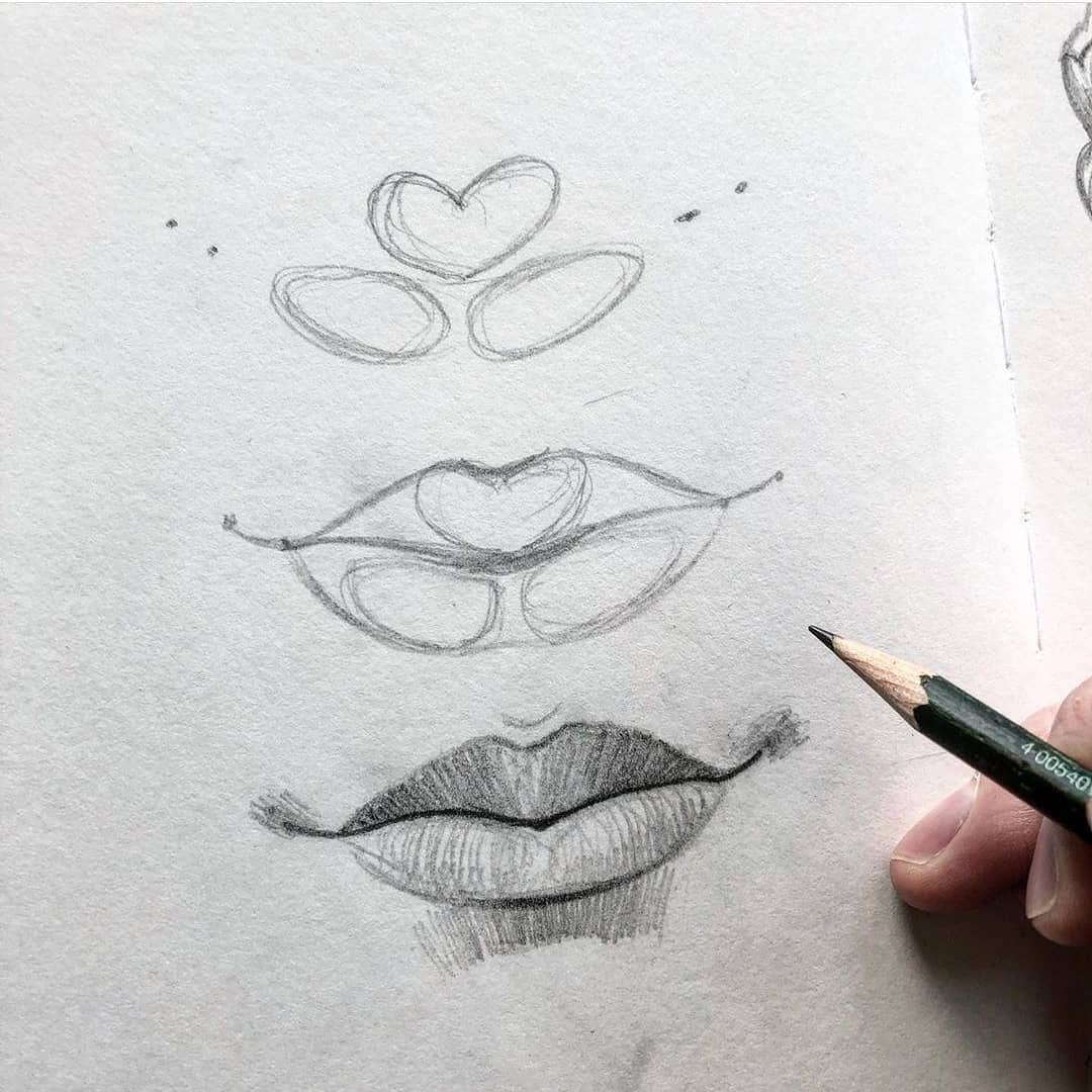 Lips and Eyebrows tutorials Lips drawing, Draw realistic