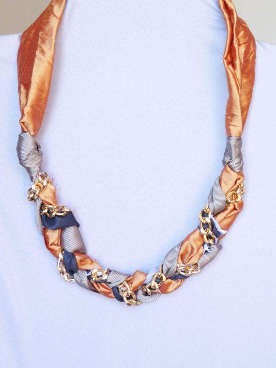 Collana di stoffa collana catena oro collana sciarpa di Bazari