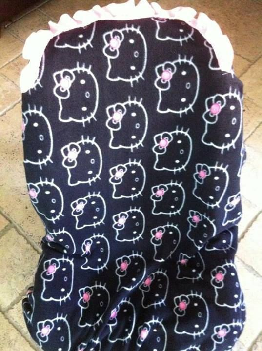 Dark Hello kitty Carseat Cover on Etsy, $40.00