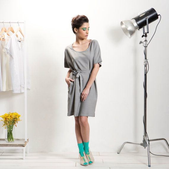 Grey  mini women Dress fashion dress Formal Cocktail por AndyVeEirn, $149.00