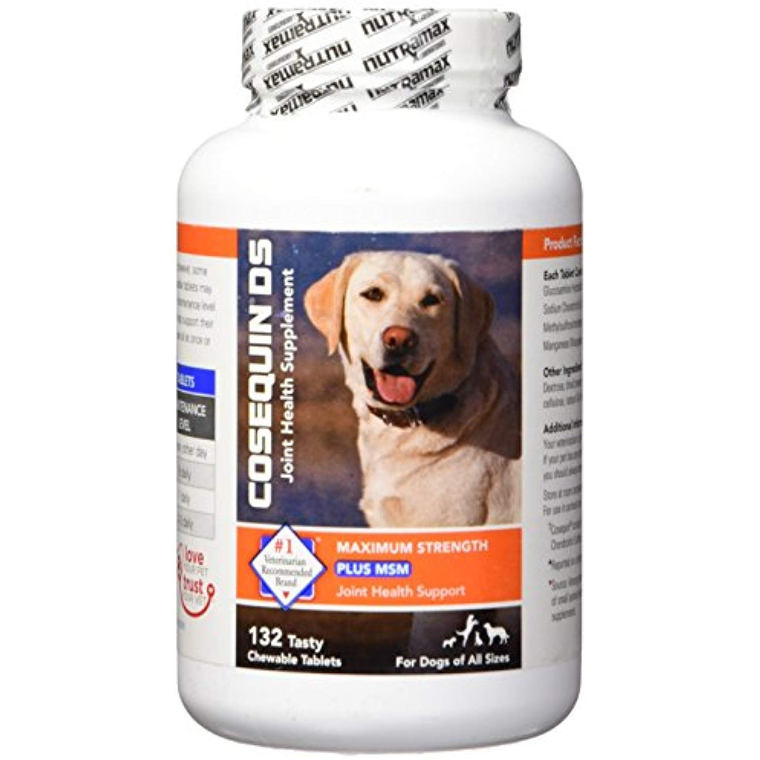 Nutramax Cosequin DS Plus with MSM Chewable Tablets, 132