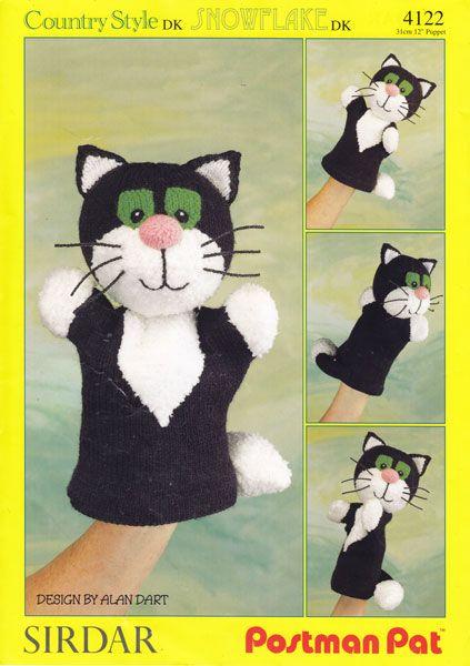 4b63928c8750 vintage jess postman pat cat hand puppet knitting pattern | Knitting ...