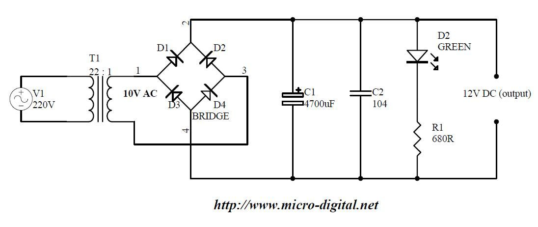 bridge rectifier circuit wiring diagram