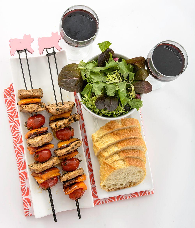 filet de porc en brochettes quelles belles brochettes. Black Bedroom Furniture Sets. Home Design Ideas