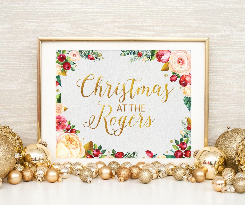 Family christmas printable personalized christmas art christmas