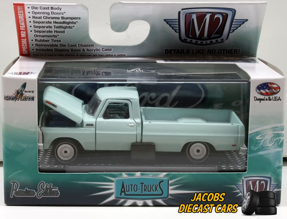 1 64 M2 Machines Auto Trucks Release 34 1969 Ford F 250 Truck Contractors Spec Toy Car Diecast Dodge Super Bee