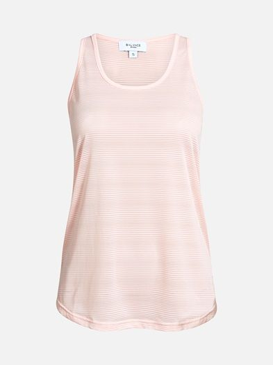 Sports top in fast-drying functional fabric. Loos fit. Semitransparent. B A L A N C E Pinkki