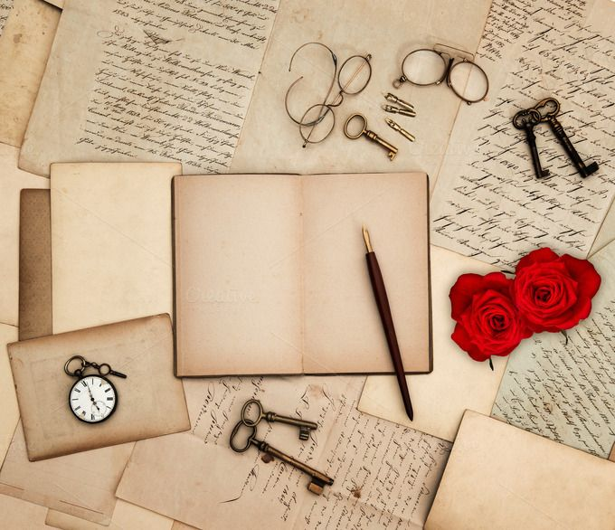 Red Roses And Love Letters Old Letters Beautiful Love Letters Writing Accessories