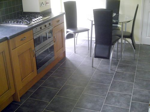 Grey Floor Tiles Kitchen Tile Brns Kitchen Floor Kitchen Decor