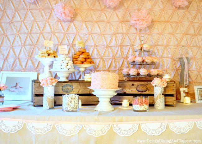 Shabby Chic First Birthday Party