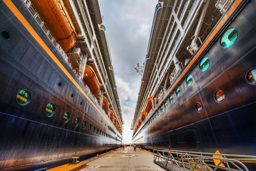 The Disney ships towering overhead #treyratcliff at www.StuckInCustom... - all images Creative Commons Noncommercial