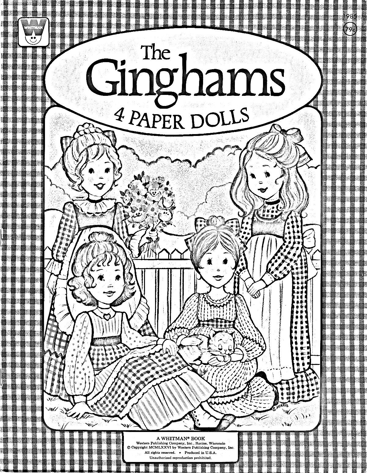 The Ginghams coloring page Paper Doll Cover | Coloring Pages ...