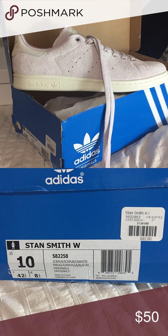 Adidas Stan Smith Lila Suede zapatos tamaño 10 Pinterest adidas