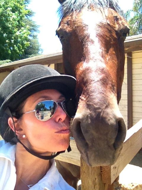 selfie with the horse!