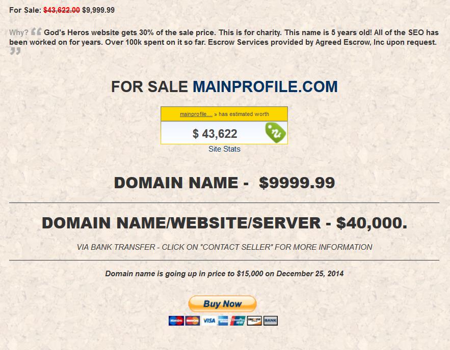 DOMAIN NAME 9999.99 Valued at39,484k