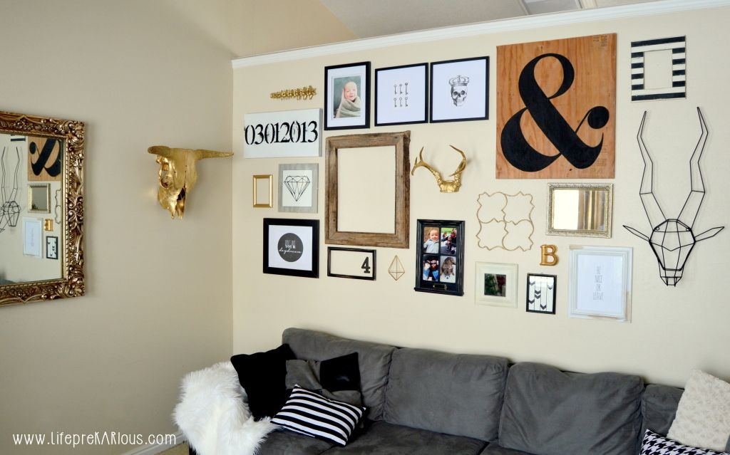 Black White And Gold Gallery Wall Gold Gallery Wall Black Wall Decor Gallery Wall