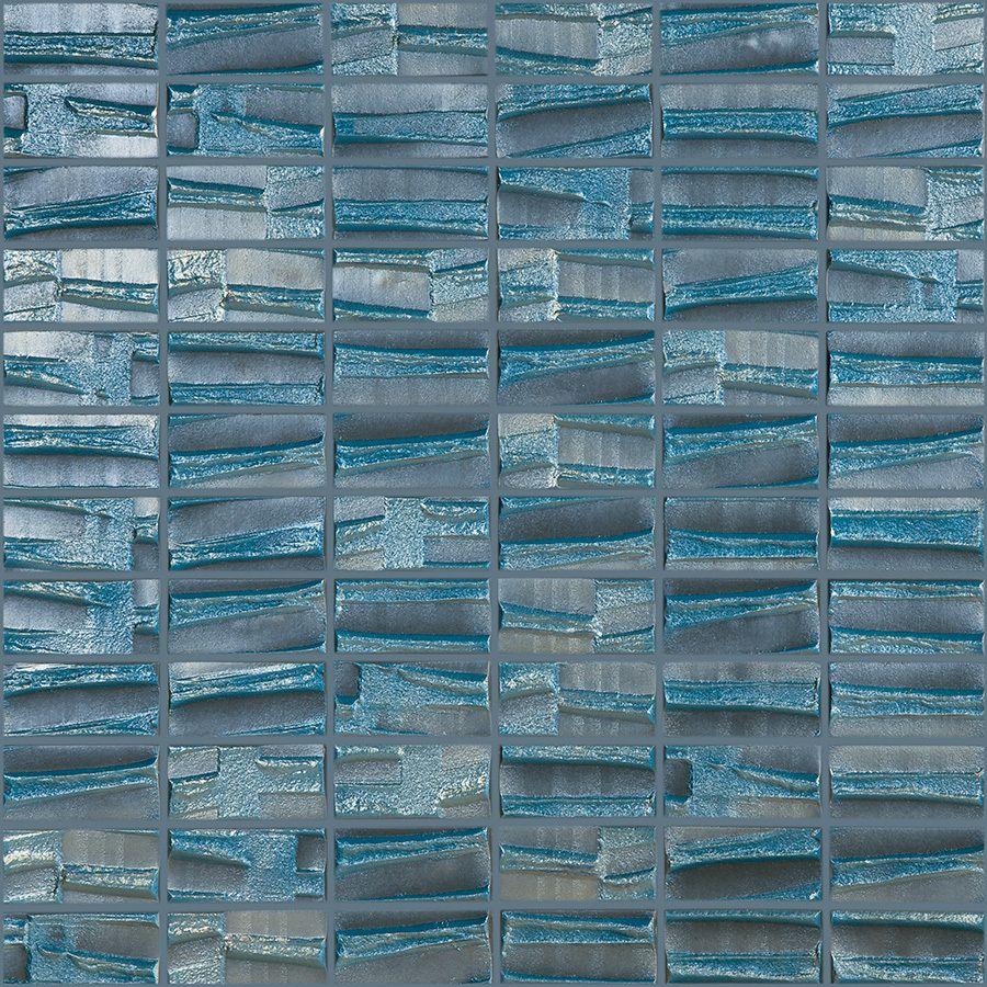Shop Elida Ceramica Textured Mist Glass Mosaic Square Indoor/Outdoor ...