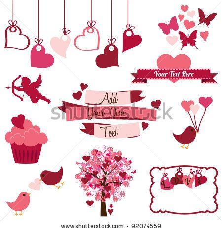 Banco De Vetores Elementos De Design Dia Dos Namorados Valentines Day Clipart Valentines Clip Valentine Clipart