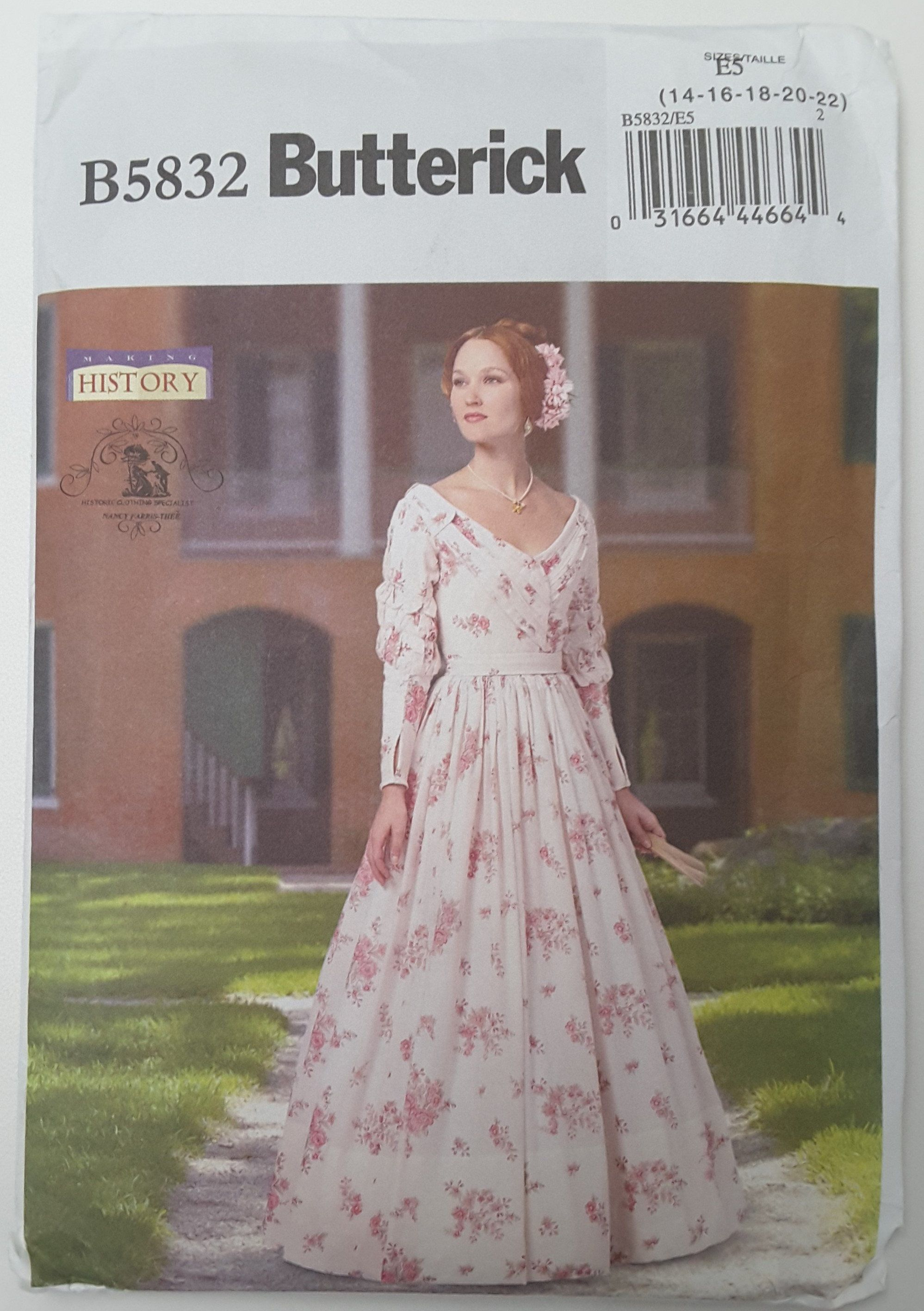 Butterick, B5832, Victorian, Dress, Historical, Southern Belle Gown ...