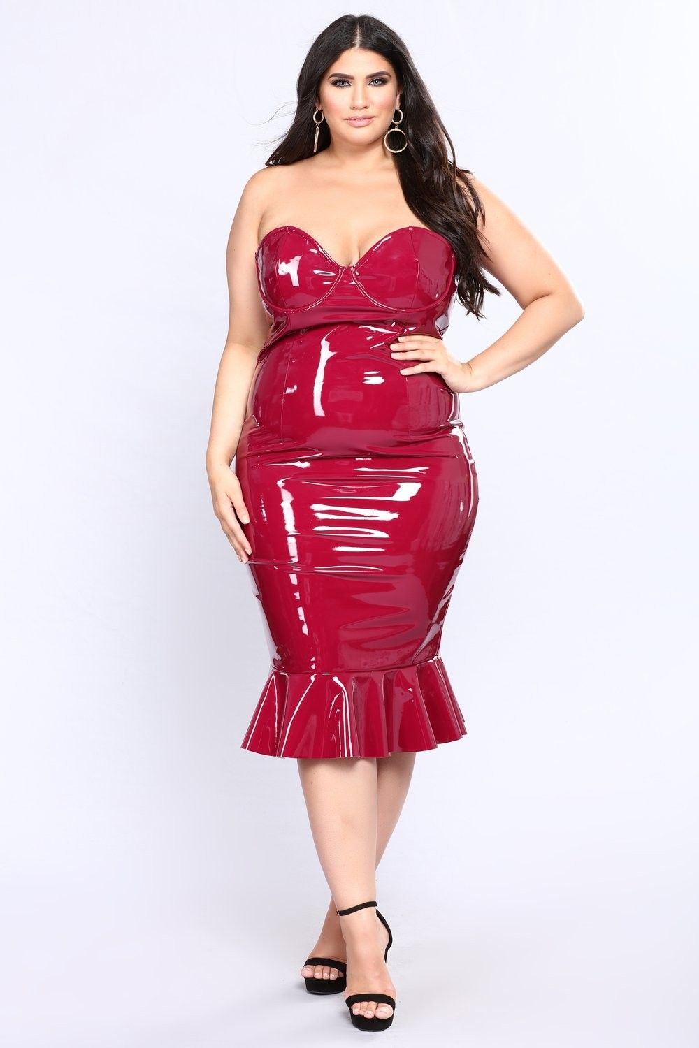 07457e4d1d60 Plus Size Xia Latex Dress - Wine  19.97  fashion  ootd  outfit  oufits   moda  plussize  dress  dresses  plussizeclothing  plussizedress  curve   curvy  sexy ...
