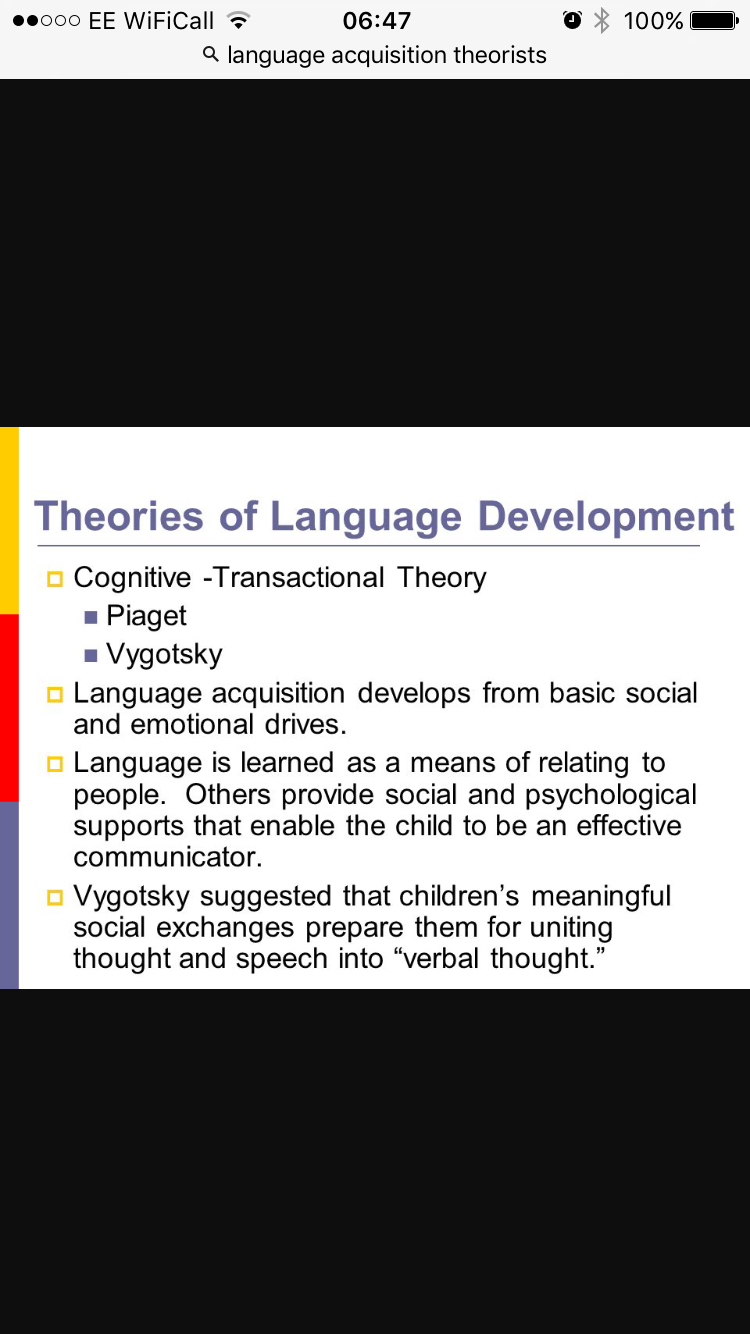 role of language in personality development