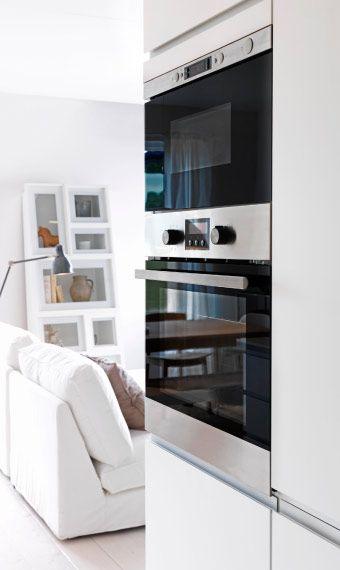 einbau heissluftofen und mikrowelle aus edelstahl ikea k chen liebe pinterest ikea k che. Black Bedroom Furniture Sets. Home Design Ideas