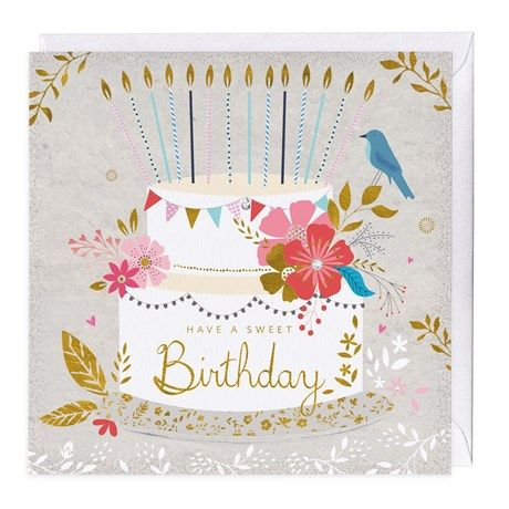 Have A Sweet Birthday Cute Birthday Card With A Beautiful