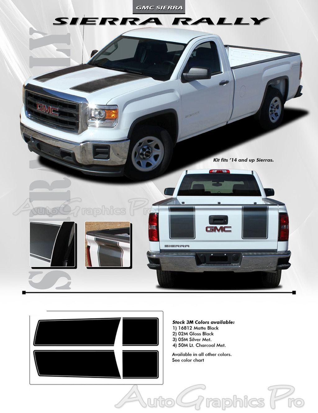 GMC Sierra SIERRA RALLY Edition Style Truck Hood - Chevy decals for trucksmore decalchevrolet silverado rally edition unveiled