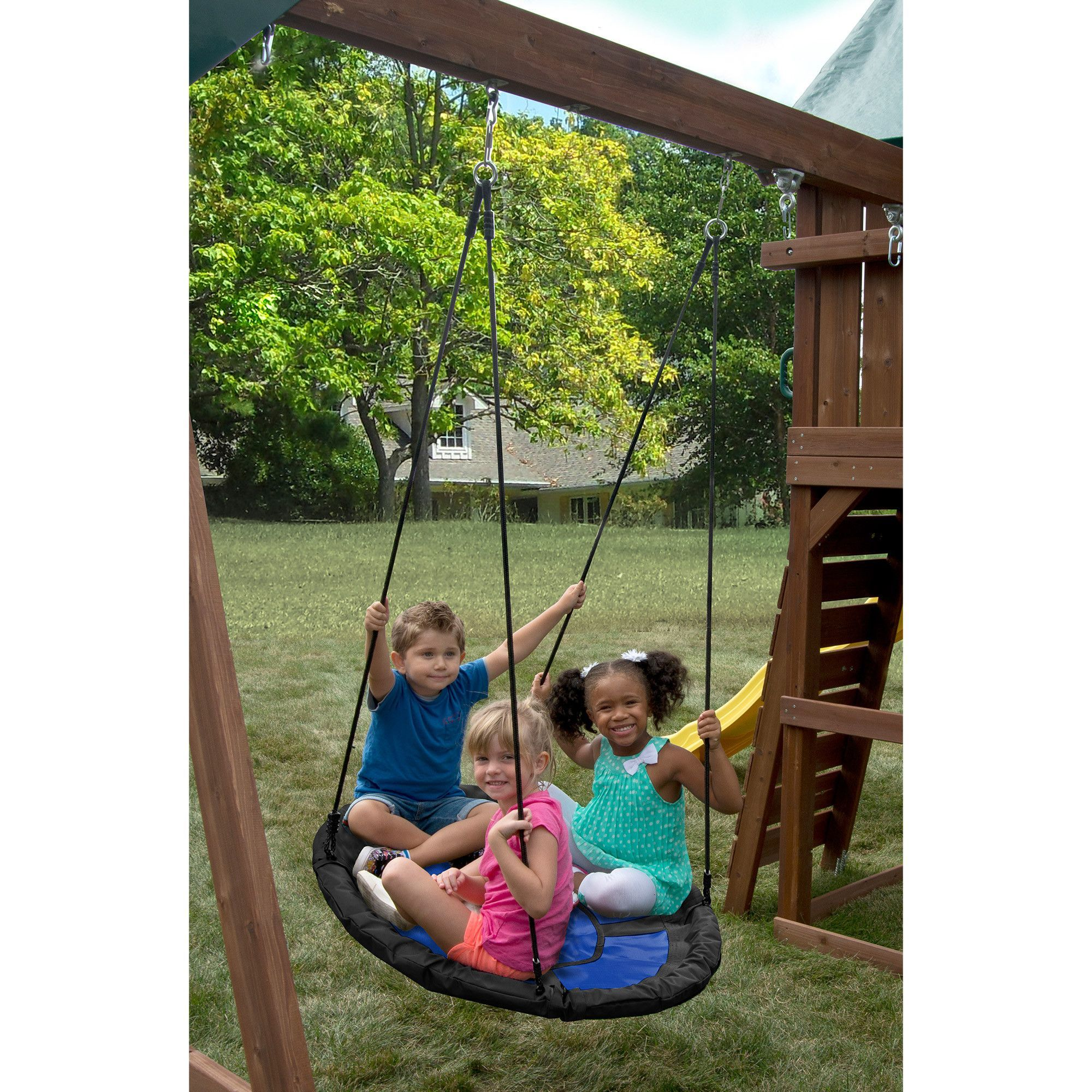 Kids creations blue nest swing nest swings and products