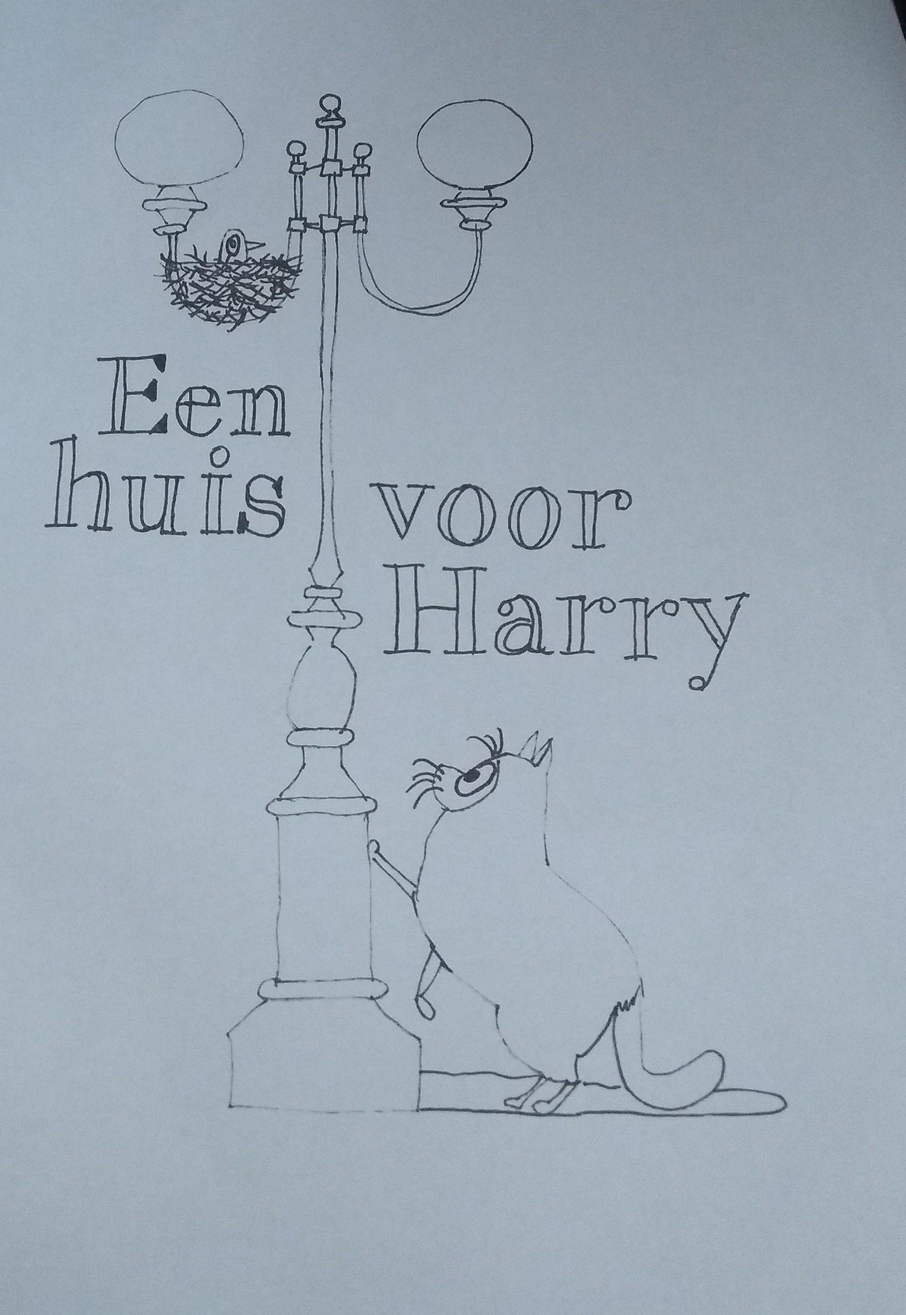 Kleurplaat Een Huis Voor Harry Boeken Huis Leuke Kaarten