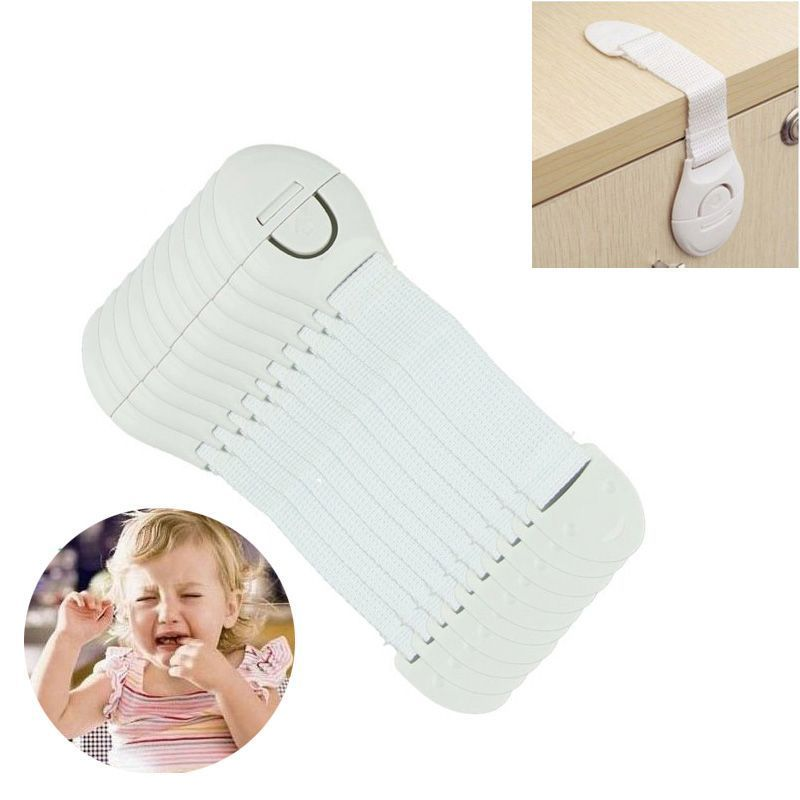 10pcs Plastic Safety Child Protection Lock Door …- 10 piec…