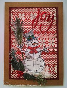 Tim Holtz Snowman And Holiday Knits Christmas Pinterest