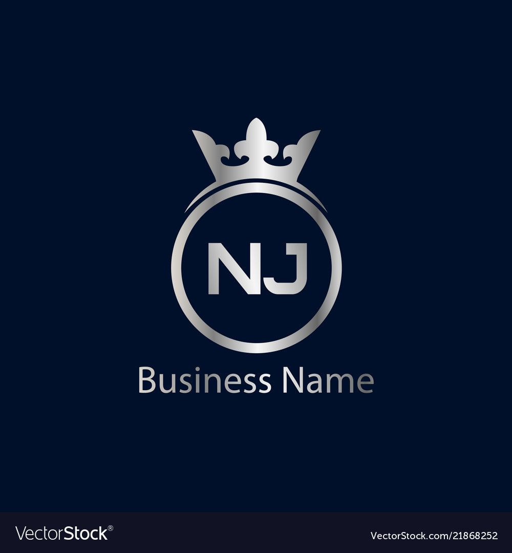 Initial Letter Nj Logo Template Design Vector Image On