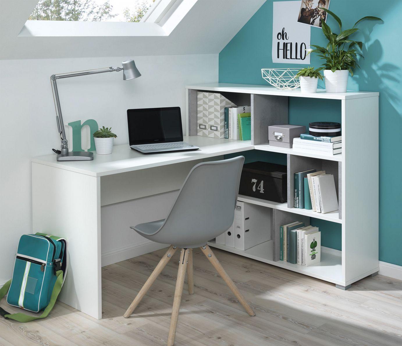 Kinderzimmer Tolle Schreibtisch Mit Regal Weiss Kinderzimmer