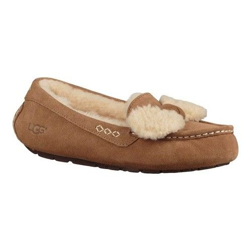 a2a1d3d74eb Women's UGG Ansley Fur Bow Loafer - Chestnut Suede Loafers ...
