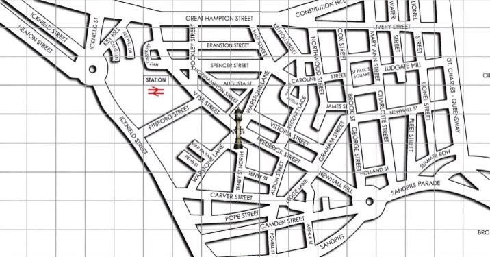 A Map Of The Jewellery Quarter Jewellery Quarter Birmingham Birmingham Uk