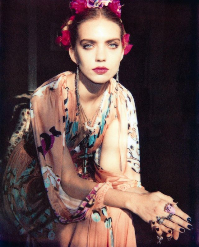 Emily Senko by Wendy Bevan for Marie Claire Italia March 2011. Frida Kahlo inspired editorial.